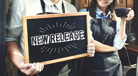 新しいリリース最新ブランド更新コンセプト