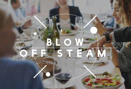 tantrum: Blow Off Steam Angry Rage Stress Tantrum Upset Concept
