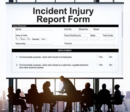 incident: Incident Injury Report Form Document Concept