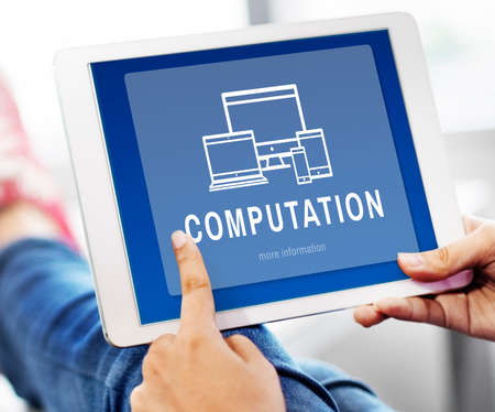 computation: Computation Digital Design Innovation Concept Stock Photo