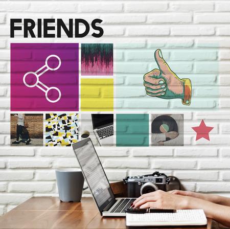 friendliness: Friends Community Connection Partnership Unity Concept