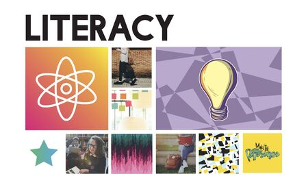 literacy: Acedemic Knowledge Learning Literacy Graphic Concept