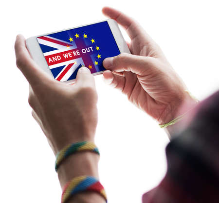 withdrawal: Britain EU Brexit Referendum Concept Stock Photo