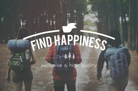 recreational pursuit: Find Happiness Pleasure Leisure Recreational Pursuit Concept