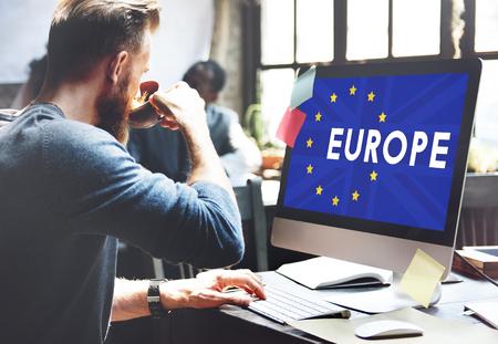 scepticism: Britain EU Brexit Referendum Concept Stock Photo