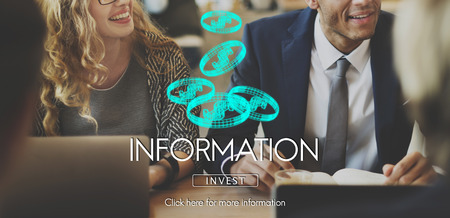 Information concept with background Stock Photo