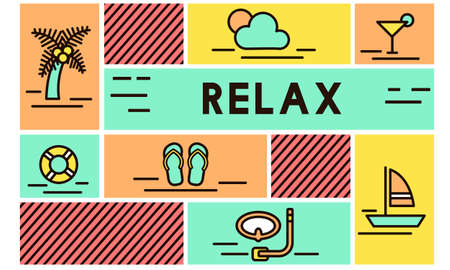 chill: Relax Calm Chill Happiness Life Resting Vacation Concept