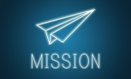 commence: Launch Business Mission Startup Begin Mission Concept Stock Photo