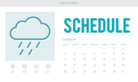 prognosis: Schedule Forecast Weather Rainy Cloud Concept Stock Photo