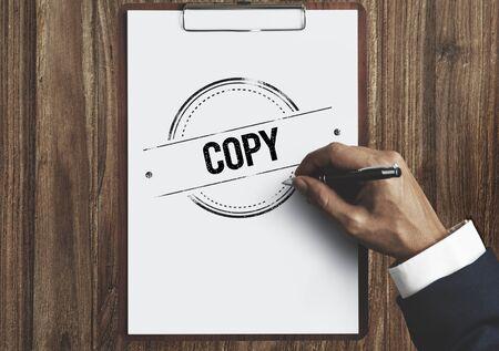 Copy Duplicate Print Scan Transcript Counterfoil Concpet