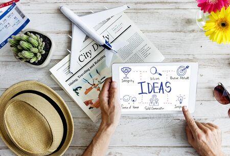 Ideas Vision Icon Illustrations Concept Stock Photo