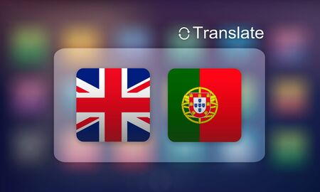 foreign national: Flag Countries Foreign Word Translation Concept Stock Photo