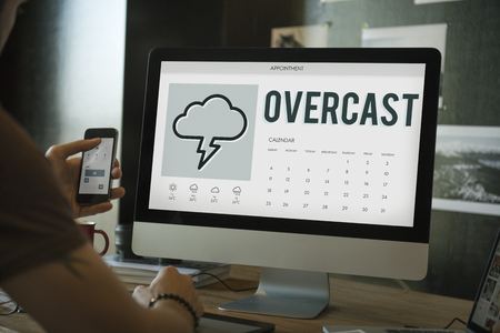 overcast: Forecast Overcast Weather Report Concept
