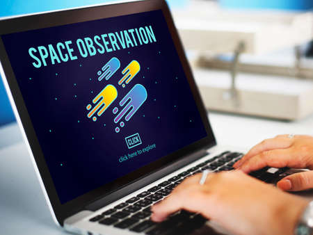 observation: Space Observation Travel Astronomy Exploration Concept