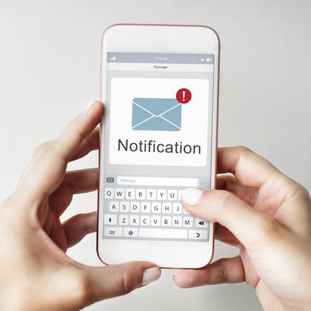 Online Message Social Network Concept Фото со стока