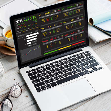 non stock: Stock Exchange Trading Forex Finance Graphic Concept
