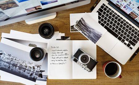 image editing: Digital Tablet Photography Design Studio Editing Concept Stock Photo