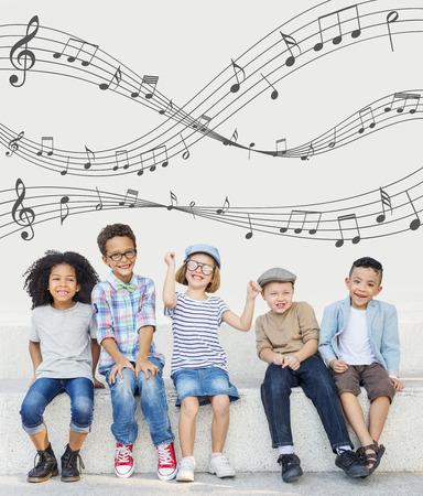 Music Notes Entertainment Melody Listening Concept Reklamní fotografie