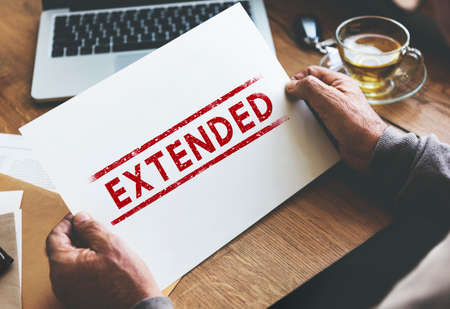 linked: Extended Expand Growth Linked Media Vision Concept Stock Photo