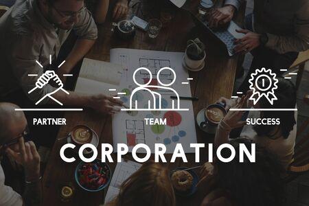 Concepto de negocios trabajo en equipo Colaboración Corporación