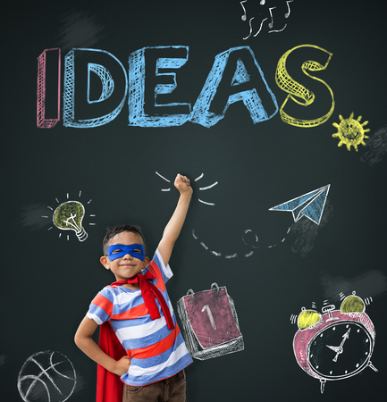 smart goals: Study Ideas Learn Kids Concept Stock Photo