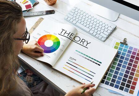 Theory Graphic Chart Color Scheme Concept Stock fotó