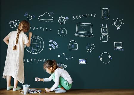 Technologie anschließen Cloud-Netzwerk-Konzept