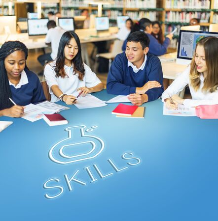 skills diversity: Science Biology Academic Research Concept Stock Photo