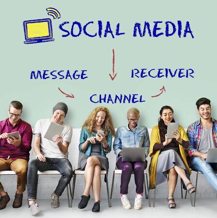 connectivity: Social Media Channel Connectivity Concept