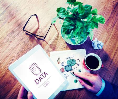 document file: Document File Data Information Concept