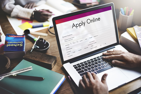 university admission: Apply Online Application College Form Concept Stock Photo