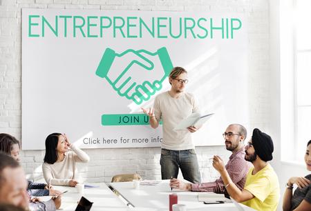 community group: Entrepreneurship Corporate Enterprise Dealer Concept