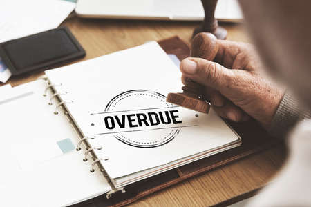 overdue: Overdue Outstanding Transaction Unpaid Paying Concept