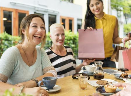 socialize: Diversity Women Socialize Unity Together Concept Stock Photo