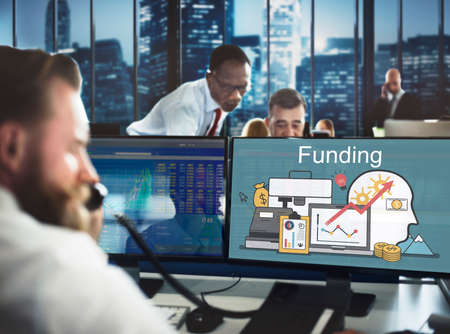 financial assets: Funding Investment Financial Assets Conept