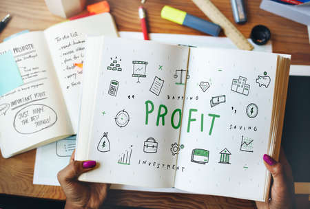 earning: Profit Income Money Financial Earning Proceeds Concept