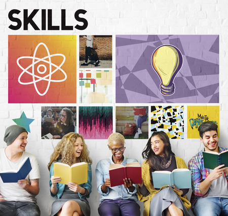 skills diversity: Acedemic Knowledge Learning Literacy Graphic Concept