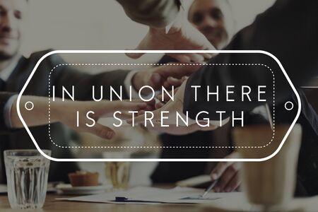 Force de l'Union Planification Succès Théorie Unity Concept Banque d'images