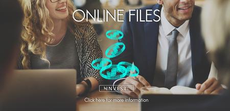 Online files concept Foto de archivo - 110856077