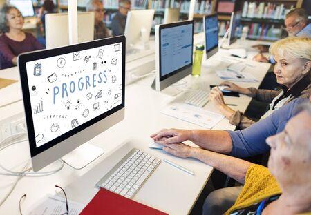 the elderly tutor: Marketing Business Corporation Progress Concept