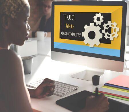 accountability: Trust Accountability Responsibility Illustration Concept Stock Photo