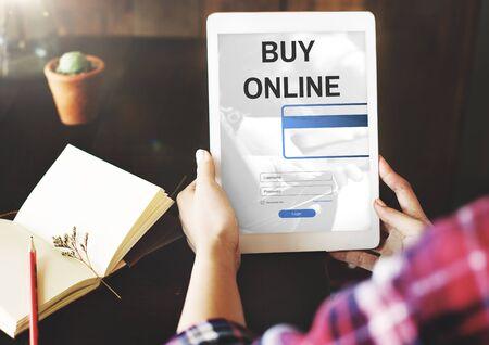 consumerism: Buying Online Shopping Consumerism Internet Concept