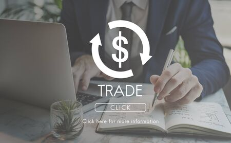 business cycle: Trade Business Cycle Economy Financial Concept