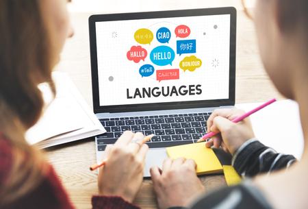 Meertalige Groeten Talen Concept Stockfoto
