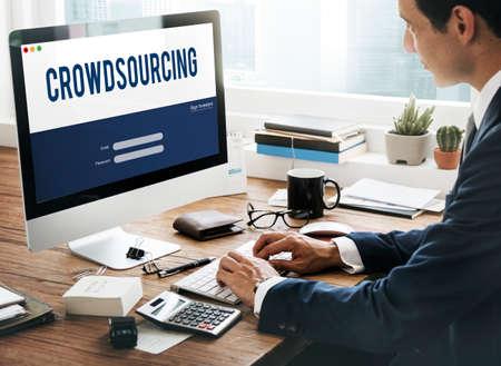 crowdsource: Crowdsourcing Collaboration Content Information Concept