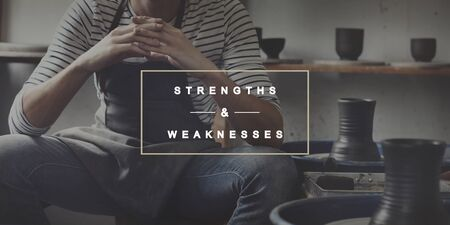 threats: Strengths and Weaknesses SWOT Opportunities Threats Concept