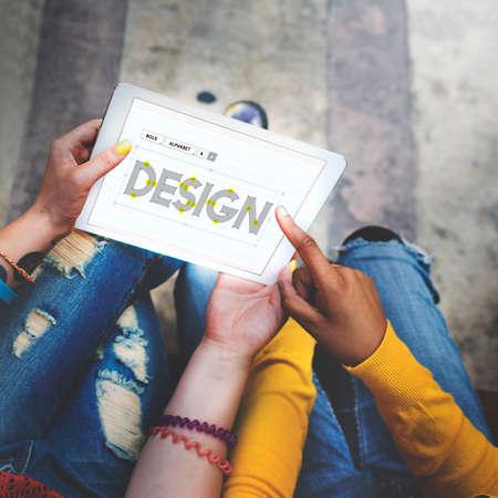 draft: Design Draft Creative Ideas Concept Stock Photo
