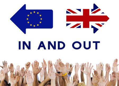 european economic community: Brexit Britain Leave European Union Quit Referendum Concept Stock Photo