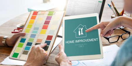 Home Improvement Website Register Button Concept Stock Photo