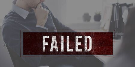 failed: Denied Rejected Banned Failed Stamp Graphic Concept Stock Photo